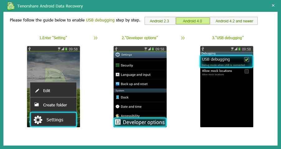 Восстановить данные Android