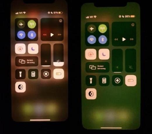 Зеленый экран iPhone