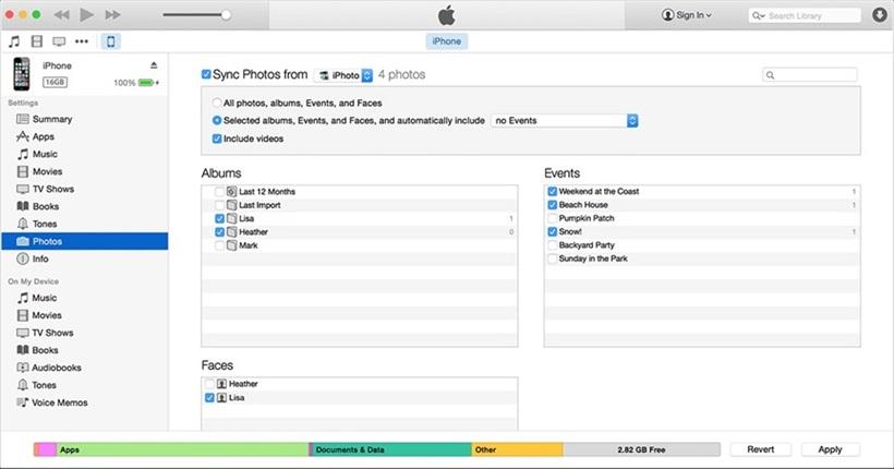 Синхронизация фото с айфона на компьютер в iTunes