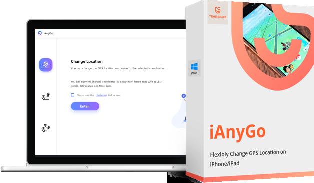 Tenorshare iAnyGo- Изменить местоположение GPS